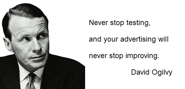 David Ogilvy sobre Test A/B